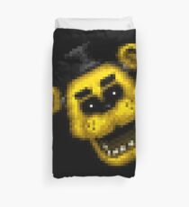 Five Nights at Freddy's 1 - Pixel art - Golden Freddy 2 Duvet Cover