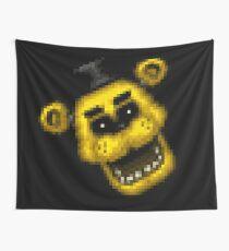 Five Nights at Freddy's 1 - Pixel art - Golden Freddy 2 Wall Tapestry