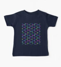 Small Colourful Pattern Triangles on White  Kids Clothes