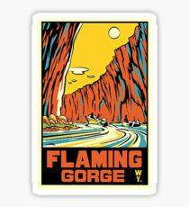 Flaming Gorge Wyoming - Vintage - Retro Sticker