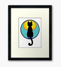 Sunrise Sunset Cat Framed Print