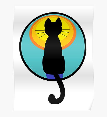 Sunrise Sunset Cat Poster