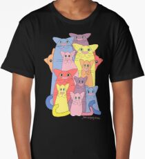 Twelve Cats For Happiness Long T-Shirt