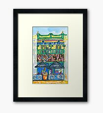 Jules Cafe Framed Print