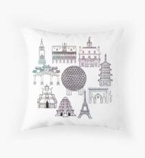 World Showcase Throw Pillow