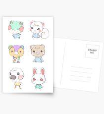 Animal Crossing Cuties Postcards