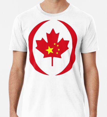 Chinese Canadian Multinational Patriot Flag Series Premium T-Shirt
