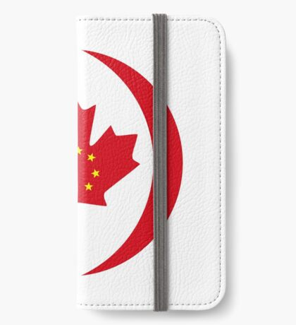Chinese Canadian Multinational Patriot Flag Series iPhone Wallet
