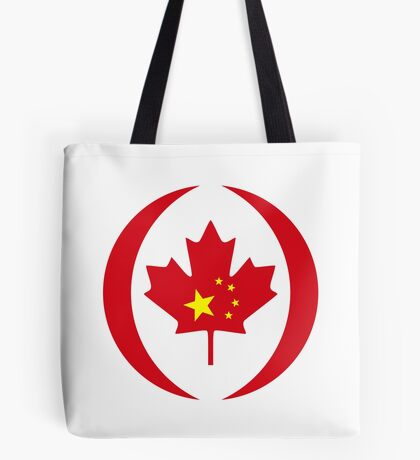 Chinese Canadian Multinational Patriot Flag Series Tote Bag