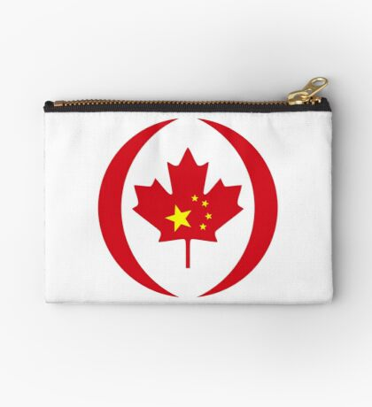 Chinese Canadian Multinational Patriot Flag Series Zipper Pouch