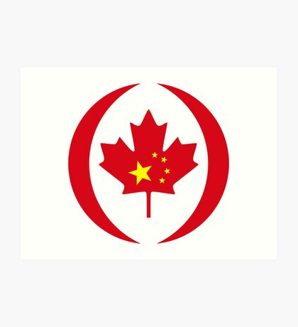 Chinese Canadian Multinational Patriot Flag Series Art Print