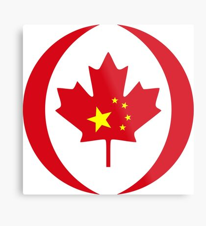 Chinese Canadian Multinational Patriot Flag Series Metal Print