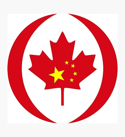 Chinese Canadian Multinational Patriot Flag Series Photographic Print