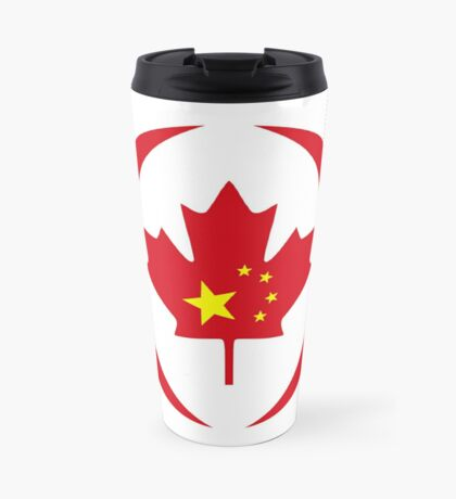 Chinese Canadian Multinational Patriot Flag Series Travel Mug