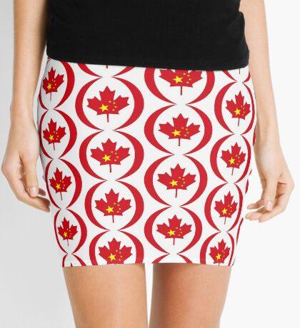 Chinese Canadian Multinational Patriot Flag Series Mini Skirt