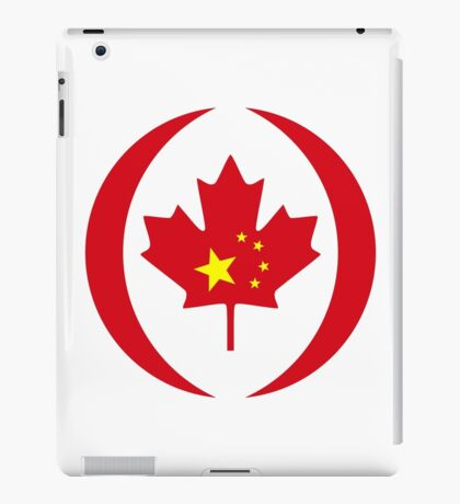 Chinese Canadian Multinational Patriot Flag Series iPad Case/Skin