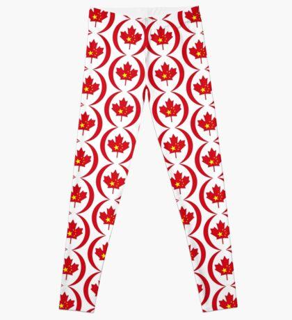 Chinese Canadian Multinational Patriot Flag Series Leggings
