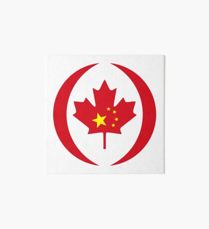 Chinese Canadian Multinational Patriot Flag Series Art Board Print
