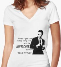 himym Barney Stinson Suit Up Awesome Women's Fitted V-Neck T-Shirt