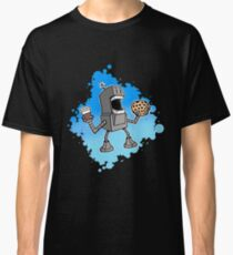 Cookie Coffee Robot Love Classic T-Shirt