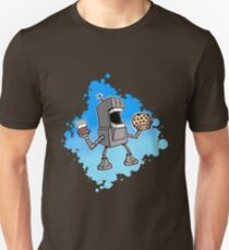 Cookie Coffee Robot Love Unisex T-Shirt