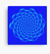 Fractal Shades of Blue 41517 Canvas Print