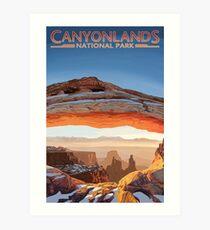 Canyonlands National Park Utah Vintage Travel Decal Art Print