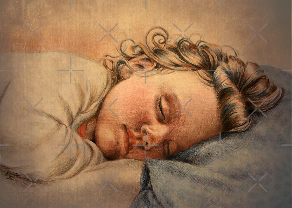 Sleepy Girl by Sarah  Mac Illustration