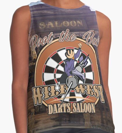 Wild West Darts Saloon Darts Shirt Contrast Tank