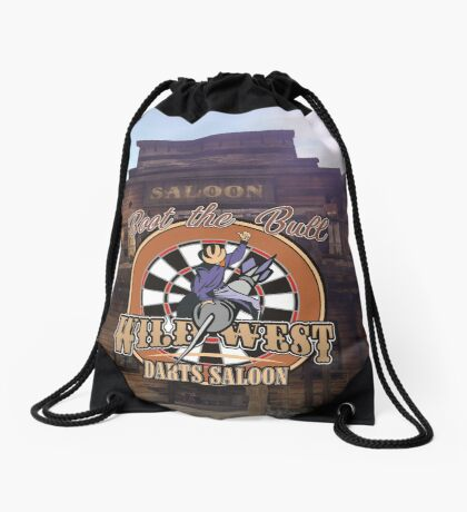 Wild West Darts Saloon Darts Shirt Drawstring Bag