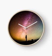Man Under the Milky Way Clock