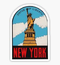 Vintage New York Statue of Liberty Travel Decal Sticker