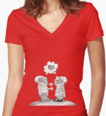 Young Love Women's Fitted V-Neck T-Shirt