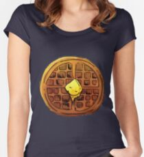 WAFFLES!<3 Women's Fitted Scoop T-Shirt