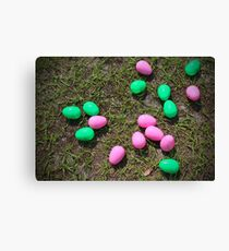 Pink And Green Eggs Canvas Print