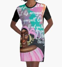 DON'T BELIEVE THE HYPE Graphic T-Shirt Dress