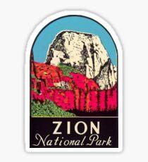 Vintage Zion National Park Utah Decal Sticker