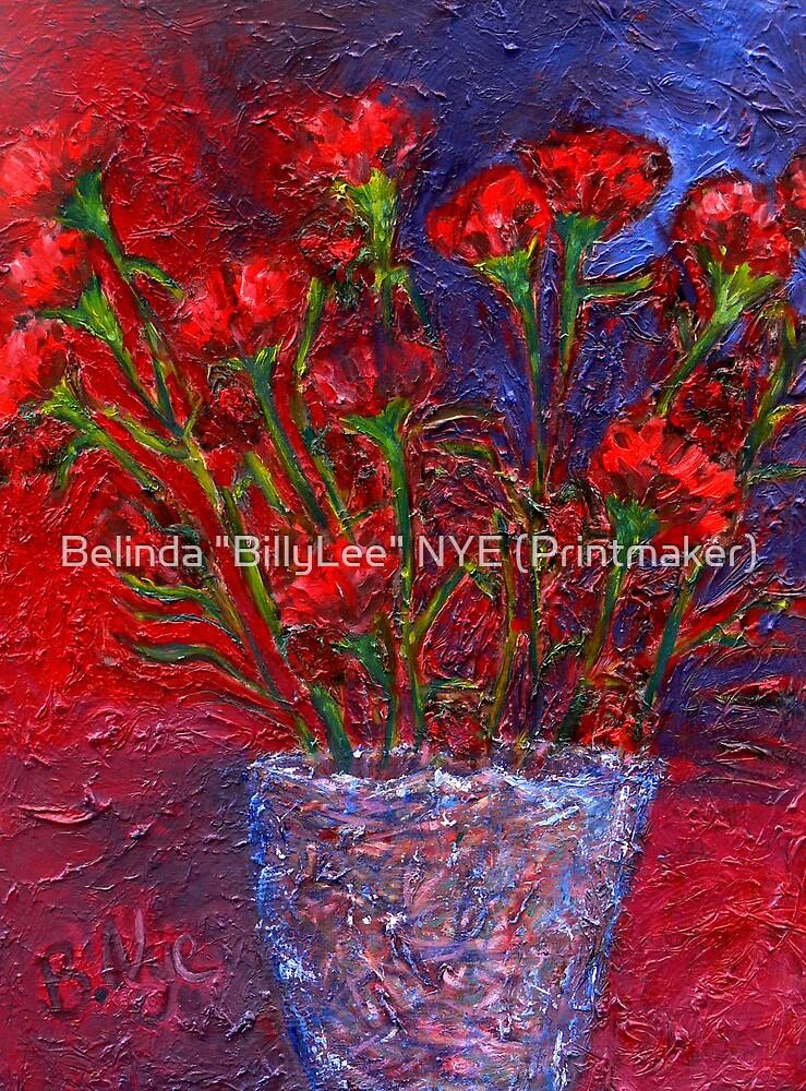 """Carnations by Belinda """"BillyLee"""" NYE (Printmaker)"""
