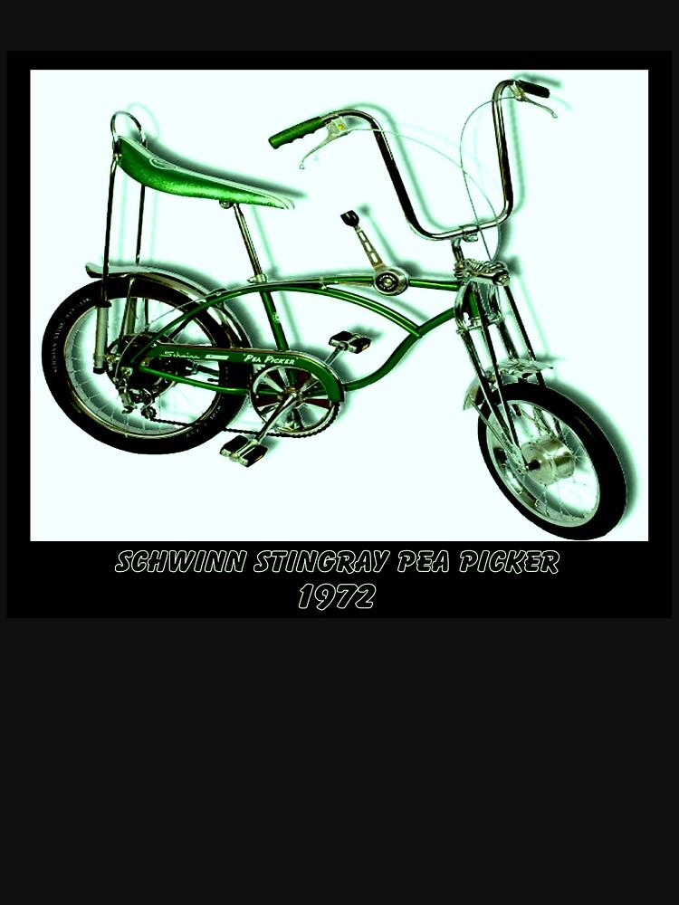 Schwinn Stingray Pea Picker Vintage Cycle Print Unisex T Shirt By