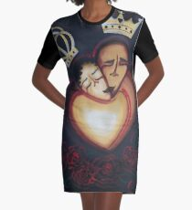 LOVERS EMBRACE Graphic T-Shirt Dress