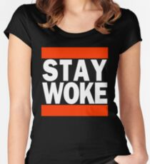 Stay Woke Women's Fitted Scoop T-Shirt