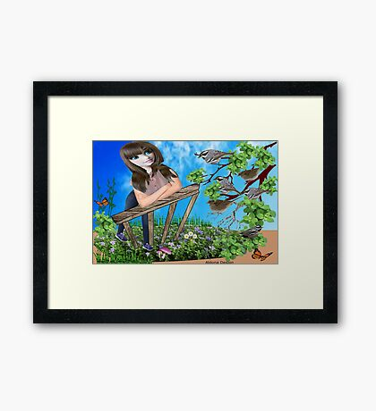 Message from the birds ( 797 Views) Framed Print