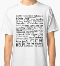 The Beatles Songs Classic T-Shirt