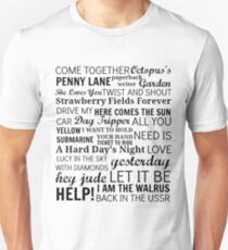 The Beatles Songs Unisex T-Shirt