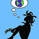 Medusa considers the Earth by bluegorgon