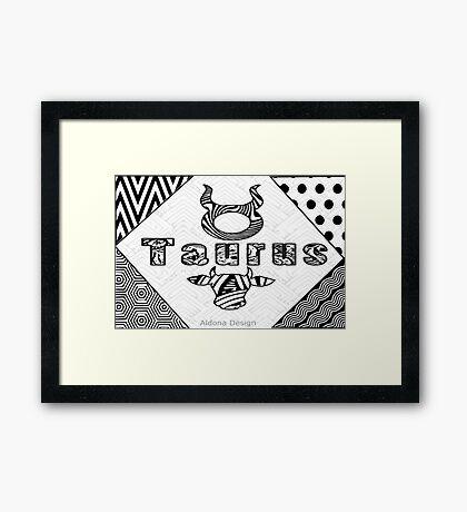 Taurus Doodle Art  (1441 Views) Framed Print