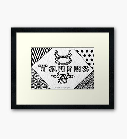 Taurus Doodle Art  (1481 Views) Framed Print
