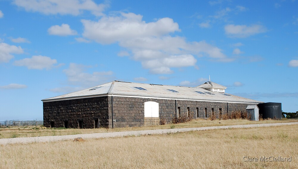 Bluestone Shearing Shed by Clare McClelland