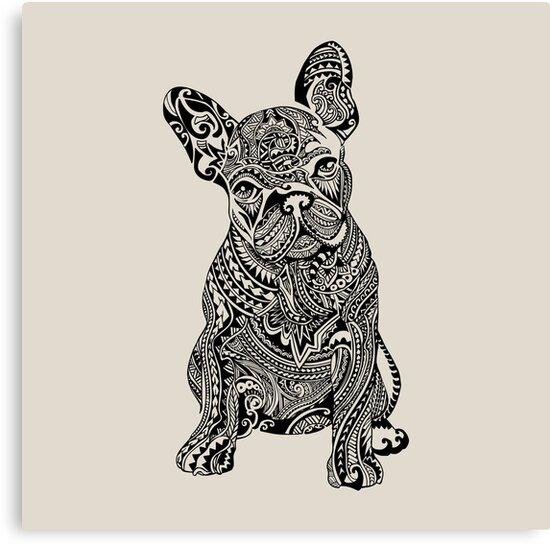 Polynesian French Bulldog by Huebucket