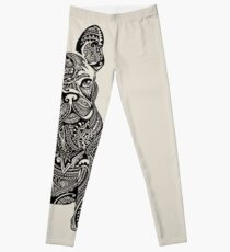 Polynesian French Bulldog Leggings